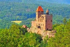 Château Berwartstein dans Dahn Rockland Image stock