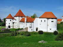 Château blanc dans Varazdin photographie stock libre de droits