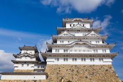 Château blanc de héron appelé château de Himeji Image stock