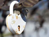 Château blanc sous forme de coeur, de symbole de l'amour et de fidélité Photographie stock