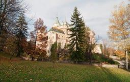 Château Bojnice dans le jour ensoleillé Photo libre de droits