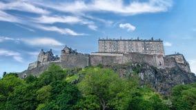Château célèbre d'Edimbourg banque de vidéos