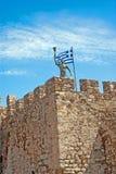 Château célèbre des chevaliers de Templar chez Nafpactos image libre de droits