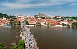 château Charles Prague de passerelle Photos libres de droits