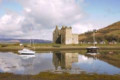 Château chez Lochranza en Ecosse Photo stock