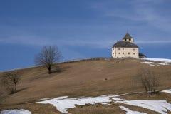 Château Ciastel De Tor de tour dans Pederoa, Trentino, Italie image libre de droits