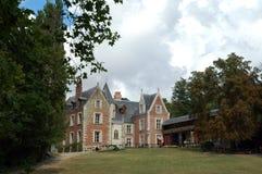 Château Clos Lucé à Amboise dans le Val de Loire image stock