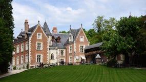 Château Clos Luce à Amboise images stock