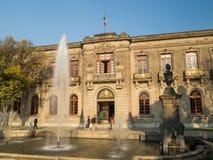 Château colonial de Chapultepec, vues, colline, parc Images libres de droits