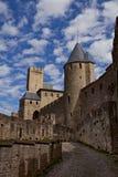 Château Comtal de forteresse de Carcassonne photo libre de droits