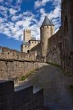Château Comtal de forteresse de Carcassonne photographie stock libre de droits