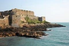 Cornet de château, port de St Peter. Photographie stock