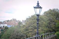 Château démodé de knaresborough de courrier de lampe Image libre de droits