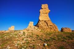 Château détruit de Palenzuela Images libres de droits