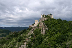 Château Dürenstein dans Wachau,   image stock