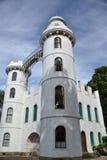 Château d'île de paon Photos stock