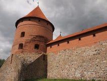 Château d'île de Trakai (Lithuanie) Photos libres de droits