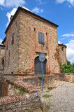 Château d'Agazzano. l'Emilia-romagna. l'Italie. Photos stock