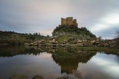Château d'Almourol au Portugal Images libres de droits