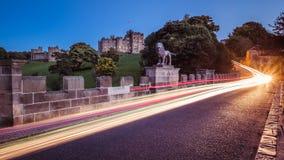 Château d'Alnwick dans le Northumberland Photographie stock libre de droits