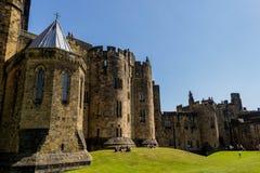 Château d'Alnwick dans le Northumberland, Angleterre images libres de droits