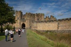 Château d'Alnwick - le siège du duc du Northumberland photo stock