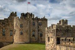 Château d'Alnwick - le siège du duc du Northumberland images stock