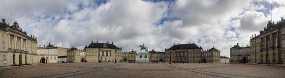 Château d'Amalienborg, résidence de la famille danoise royale photo libre de droits