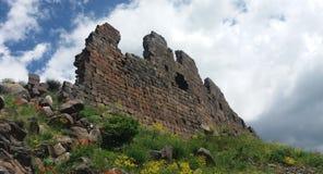 Château d'Amberd dans le bâti d'Arargats Photographie stock