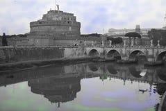 Château d'ange de rue à Rome Photographie stock libre de droits
