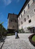 Château d'Angera - forteresse (Rocca Borromea) photo libre de droits