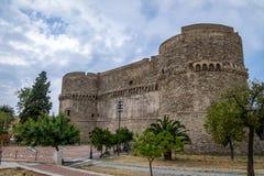 Château d'Aragonese - le Reggio de Calabre, Italie Photographie stock libre de droits