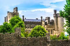 Château d'Arundel dans le Sussex occidental, Angleterre photographie stock