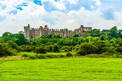 Château d'Arundel dans le Sussex occidental, Angleterre, R-U images stock