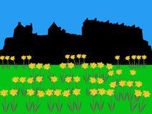 Château d'Edimbourg dans le printemps illustration libre de droits