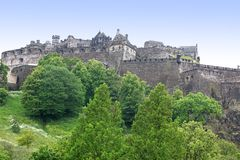 Château d'Edimbourg, Ecosse, R-U Images libres de droits
