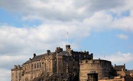 Château d'Edimbourg par jour. l'Ecosse. LE R-U. Image libre de droits