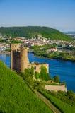 Château d'Ehrenfels, Burg Ehrenfels sur le Rhin près de Ruedesheim et Bingen AM Rhein, Hesse, Allemagne images libres de droits