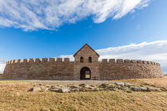 Château d'Ekeotorp (borg d'Eketorps) photographie stock libre de droits