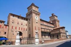 Château d'Estense. Ferrare. l'Emilia-romagna. l'Italie. images stock