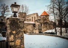 Château d'hiver Château de Cesis Image libre de droits