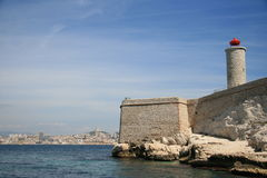 Château d'If beacon, Marseille, France Royalty Free Stock Photography