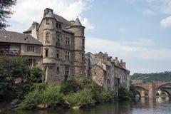 Château d'Olt de Calmont france Image stock