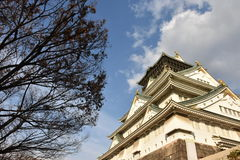 Château d'Osaka à Osaka égalisant, Japon Photos libres de droits