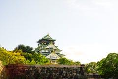 Château d'Osaka célèbre au Japon Photographie stock libre de droits