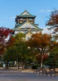 Château d'Osaka en automne Photographie stock libre de droits