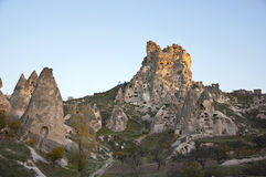 Château d'Uchisar Photos stock