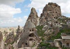 Château d'Uchisar dans Cappadocia Image stock