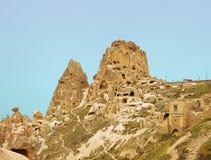 Château d'Uchisar dans Cappadocia, Turquie Image stock