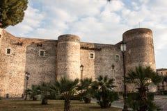 Château d'Ursino, Catane, Sicile, Italie Photos libres de droits